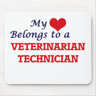 My heart belongs to a Veterinarian Technician Mouse Pad