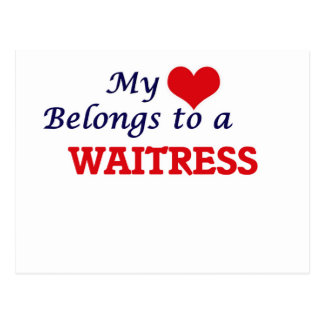 My heart belongs to a Waitress Postcard