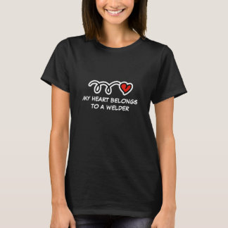 My heart belongs to a welder | Women's t-shirt