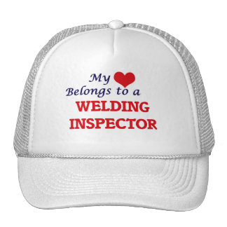 My heart belongs to a Welding Inspector Cap