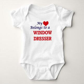 My heart belongs to a Window Dresser Baby Bodysuit