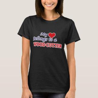My heart belongs to a Wood Cutter T-Shirt