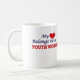 My heart belongs to a Youth Worker Coffee Mug