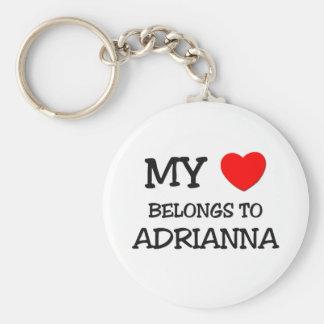 My Heart Belongs To ADRIANNA Key Chain