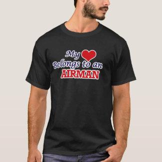My Heart Belongs to an Airman T-Shirt