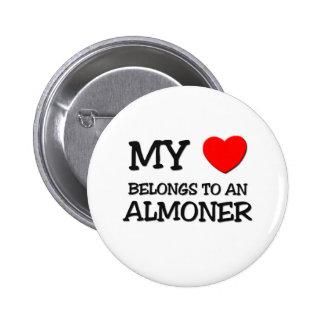 My Heart Belongs To An ALMONER Pinback Button