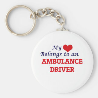 My Heart Belongs to an Ambulance Driver Basic Round Button Key Ring