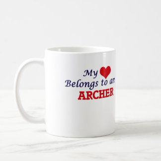 My Heart Belongs to an Archer Coffee Mug