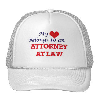My Heart Belongs to an Attorney At Law Cap