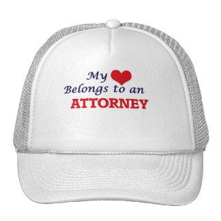 My Heart Belongs to an Attorney Cap