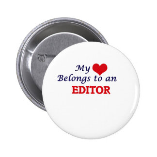 My Heart Belongs to an Editor 6 Cm Round Badge