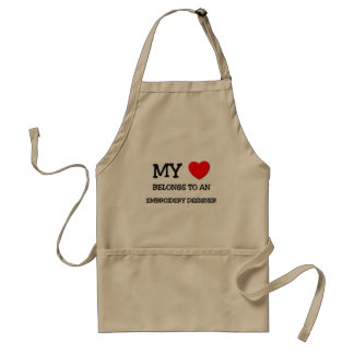 My Heart Belongs To An EMBROIDERY DESIGNER Standard Apron