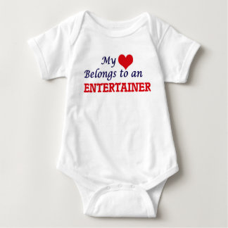 My Heart Belongs to an Entertainer Baby Bodysuit