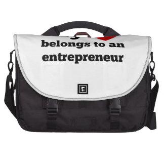 My Heart Belongs To An Entrepreneur Commuter Bag