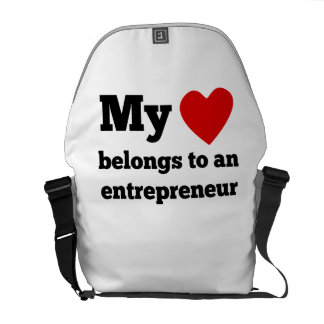 My Heart Belongs To An Entrepreneur Courier Bags