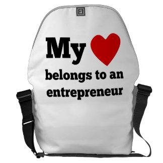 My Heart Belongs To An Entrepreneur Messenger Bags