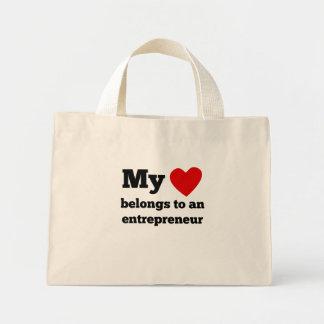 My Heart Belongs To An Entrepreneur Mini Tote Bag