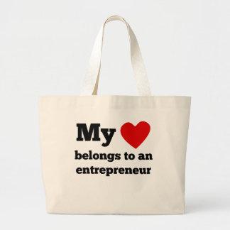 My Heart Belongs To An Entrepreneur Jumbo Tote Bag