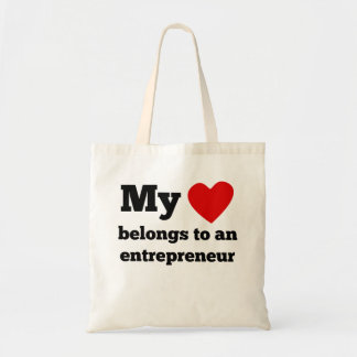 My Heart Belongs To An Entrepreneur Budget Tote Bag