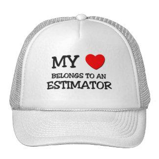 My Heart Belongs To An ESTIMATOR Trucker Hats