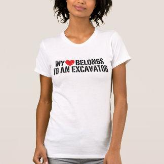 My Heart belongs To An Excavator T-Shirt
