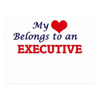 My Heart Belongs to an Executive Postcard