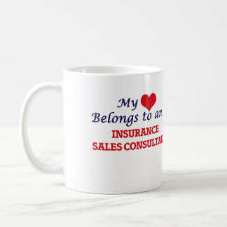 My Heart Belongs to an Insurance Sales Consultant Coffee Mug