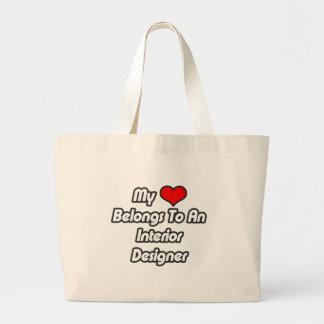 My Heart Belongs To An Interior Designer Tote Bags