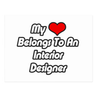 My Heart Belongs To An Interior Designer Postcard