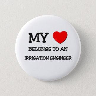 My Heart Belongs To An IRRIGATION ENGINEER 6 Cm Round Badge