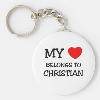 My Heart Belongs to Christian Key Chains