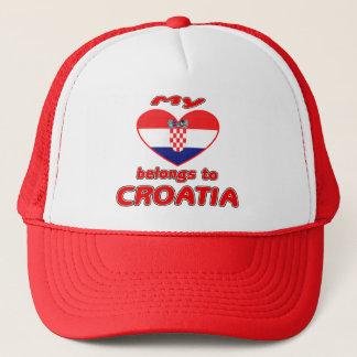 My heart belongs to Croatia Trucker Hat