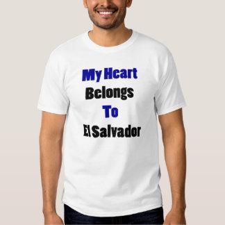 My Heart Belongs To El Salvador T Shirts