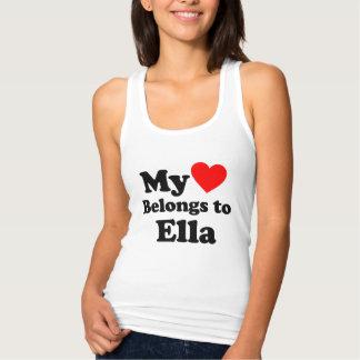 My Heart Belongs to Ella Singlet
