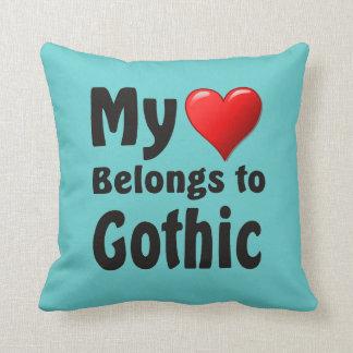 My heart Belongs to Gothic Cushion