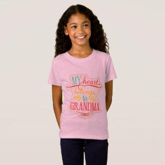 My Heart Belongs To Grandma T-Shirt