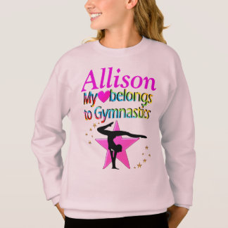 MY HEART BELONGS TO GYMNASTICS CUSTOM SWEAT SHIRT