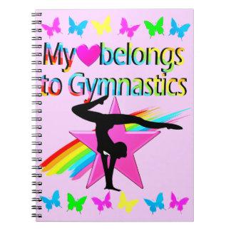 MY HEART BELONGS TO GYMNASTICS PRETTY DESIGN NOTEBOOKS