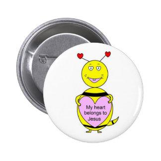 """My Heart Belongs To Jesus """"Bee"""" Button"""
