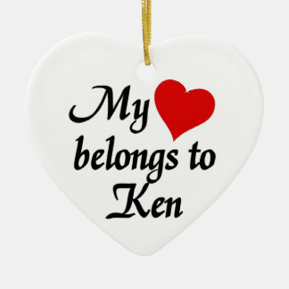 My heart belongs to Ken Ceramic Ornament