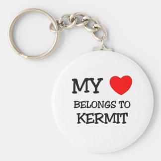 My Heart Belongs to Kermit Basic Round Button Key Ring
