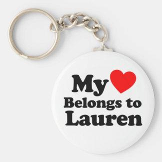 My Heart Belongs to Lauren Key Chain