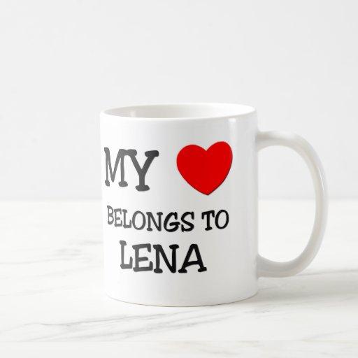 My Heart Belongs To LENA Mugs