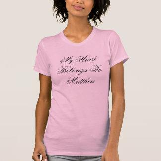 My Heart Belongs To Matthew - Customized Tee Shirts