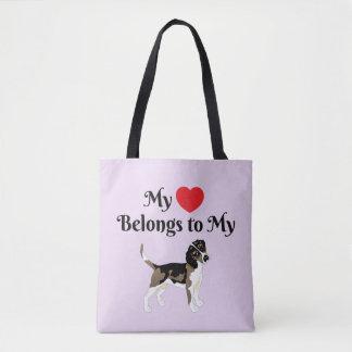 My Heart Belongs to My Beagle Tote
