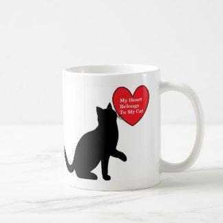 My Heart Belongs To My Cat Mug