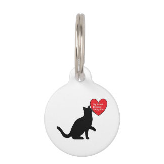 My Heart Belongs To My Cat Name Tag