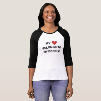 My heart belongs to my doodle t-shirt