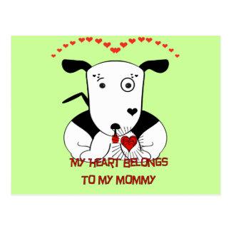 My Heart Belongs to My Mommy Postcard