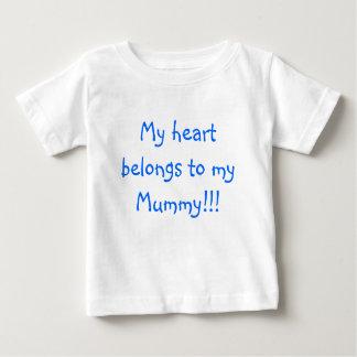 My heart belongs to my Mummy!!! Baby T-Shirt